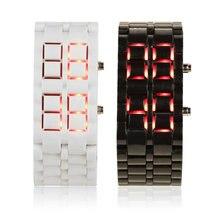 OUTAD мужские и женские цифровые часы Lava Iron Samurai пластиковый светодиодный браслет наручные часы спортивный стиль Relogio