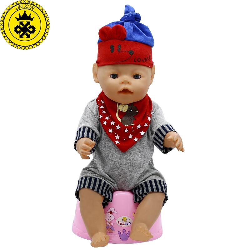 Baby Born Doll Clothes Cartoon Mouse T-shirt + Shorts + Hat + Bibs Suit Fit 43cm Zapf Baby Born 16-18 inch Doll Accessories T-13 born лосины born 13 1005 lпесочный песочный