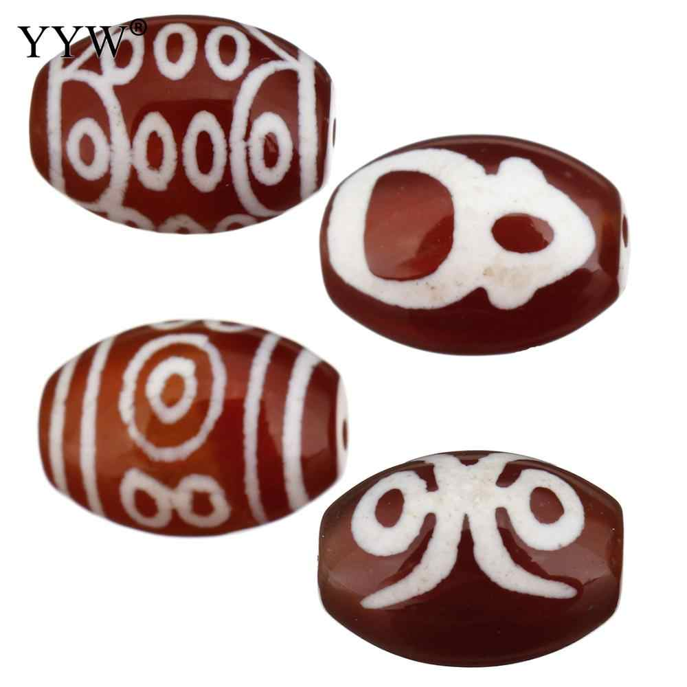 Natural Tibetan Agates Dzi Beads Stone Beads 14x10x10mm Hole Approx 1.5mm 5PCs/Lot Sold By Lot