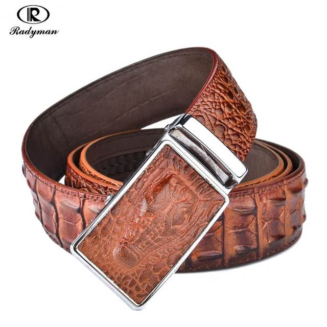 RADYMAN crocodile marque ceinture homme luxe military belts Presents for  men leather men belt Strap male 64045e6d993
