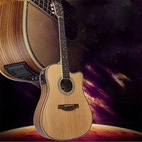 41 '' Ahşap Halk Guitarra 21 Fret Akustik Elektro Bas Gitar 6 Strings Konser Ukulele Müzikal Yaylı Enstrüman Sevgilisi için
