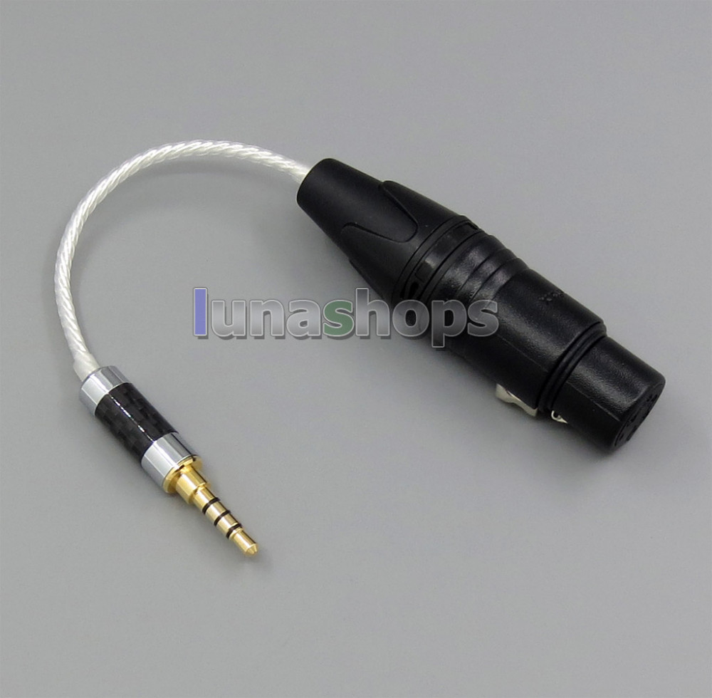 Consumer Electronics Portable Audio & Video 3.5mm Silver Plated Trrs Re-zero Balanced To 4pin Xlr Female Cable For Hifiman Hm901 Hm700 Hm802 Headphone Amplifier Ln005003 Bright And Translucent In Appearance