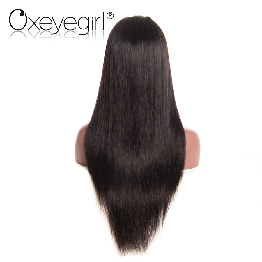 [Oxeye girl] Brazilian Straight Lace Front Human Hair Wigs For Women Pre Plucked Wigs Non-Remy Hair Wig With Baby Hair 8″-24″