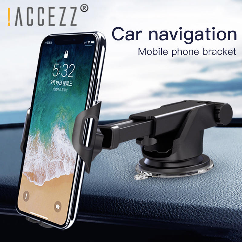 !ACCEZZ Air Vent Mount Car Holder Universal For Iphone X 8 7 MAX Huawei Samsung Xiaomi Car Smart Phone Gravity Sucker Stand