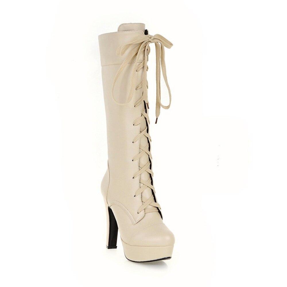 Noir Femme M201 m202 m203 12 Talons Initiale De Beige Femmes Nous Bout Rond Mode Mi 3 Bottes Hiver Blanc mollet Carrés L'intention Chaussures 5 Taille vwymN8nO0