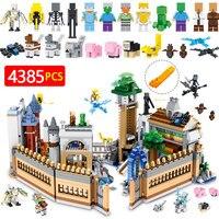 Техника конструктор строительные блоки набор совместимых LegoINGLYS Minecrafted большой волшебный замок Модель Кирпичи Детские игрушки