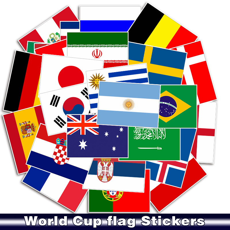 Flags-Stickers Suitcase Luggage Skateboard National Motorcycle Laptop For Bike Car Waterproof