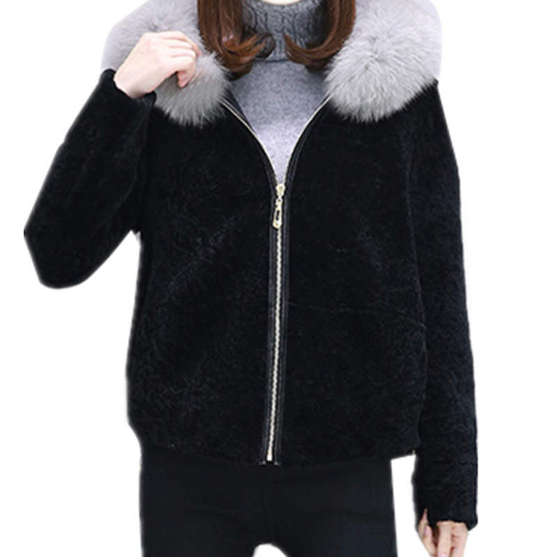 16 New Style Autumn Winter France USA Russia Oversize Loose Wool Hoodies Parkas Coat Outerwear Girl Winter Lambs Female OL Tops