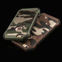 Navy Army Camouflage Pattern Cases For Iphone 5 5S SE 6 6S Plus 2 In 1