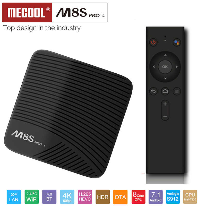 M8S PRO L 4K tv Box Android 7,1 Amlogic S912 32 Гб rom 3 Гб ram комплект bluetooth-top Box с голосовым пультом дистанционного управления