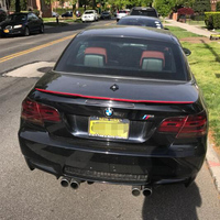 E93 Modified M4 Style Carbon Fiber Red Line Rear Trunk Luggage Compartment Spoiler Car Wing For