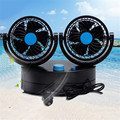 12V Mini Rotating Powered Strong Wind Car Vehicle Cooling Air Conditioner Shaked Head Car Fan