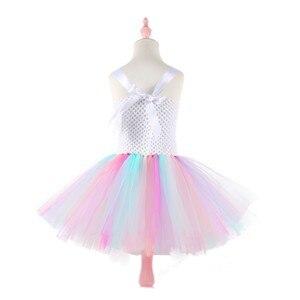 Image 5 - Moeble robes tutu licorne avec bandeau pour filles, Costume Cosplay, Halloween, noël, robes de fête danniversaire pour enfants