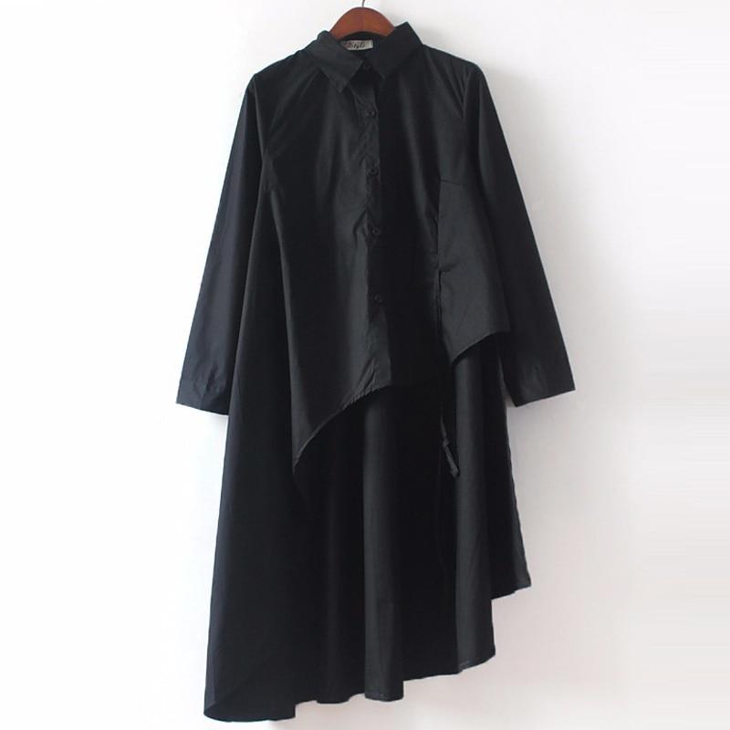 [CHICEVER] 2019 Bahar Elbise Kadınlar Uzun Kollu Düzensiz Elbise - Bayan Giyimi - Fotoğraf 6