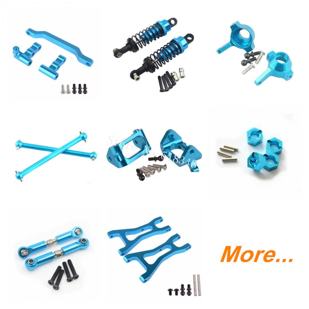WLtoys A959 Upgrade Parts Aluminum Metal For 1/18 Electric Off Road Buggy Truck Toys Car Fit A969 A979 K929 Replacement aluminum steering knuckle hub kit lower susp arm ball bearing for rc wltoys a979 1 18 off road monster truck upgrade parts