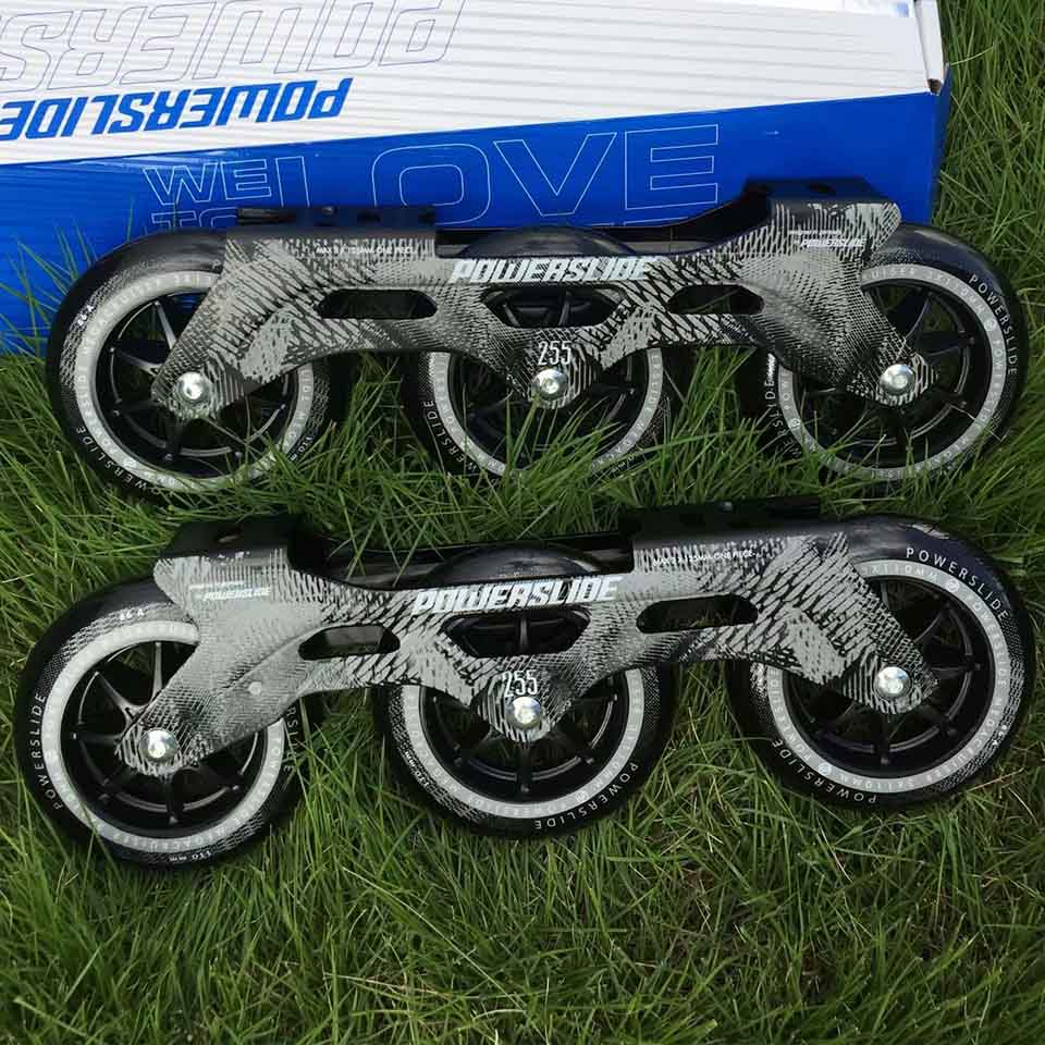 Image 4 - 100% Original Powerslide Speed Skate Frame 3*110mm 255mm With 110mm Powerslide Skating Wheels For 165mm Distance Patines Base-in Skate Shoes from Sports & Entertainment on AliExpress