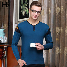 High Quality Button V-Neck Knitted Sweater Men Long Sleeve Wool Pullover Men Print Cashmere Pull Fashion Plus Size S – XXXL 6625