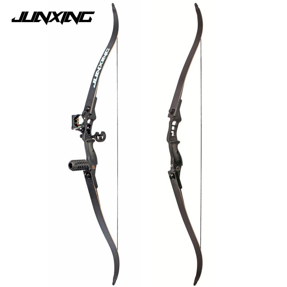 Arco recurvo de 54 pulgadas 30-50 lbs longitud del elevador 17 pulgadas arco de caza Americano para la práctica de caza deportiva al aire libre de tiro con arco