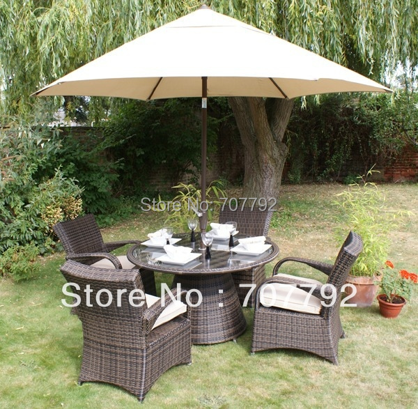2017 Outdoor rattan dining Garden Furniture Set