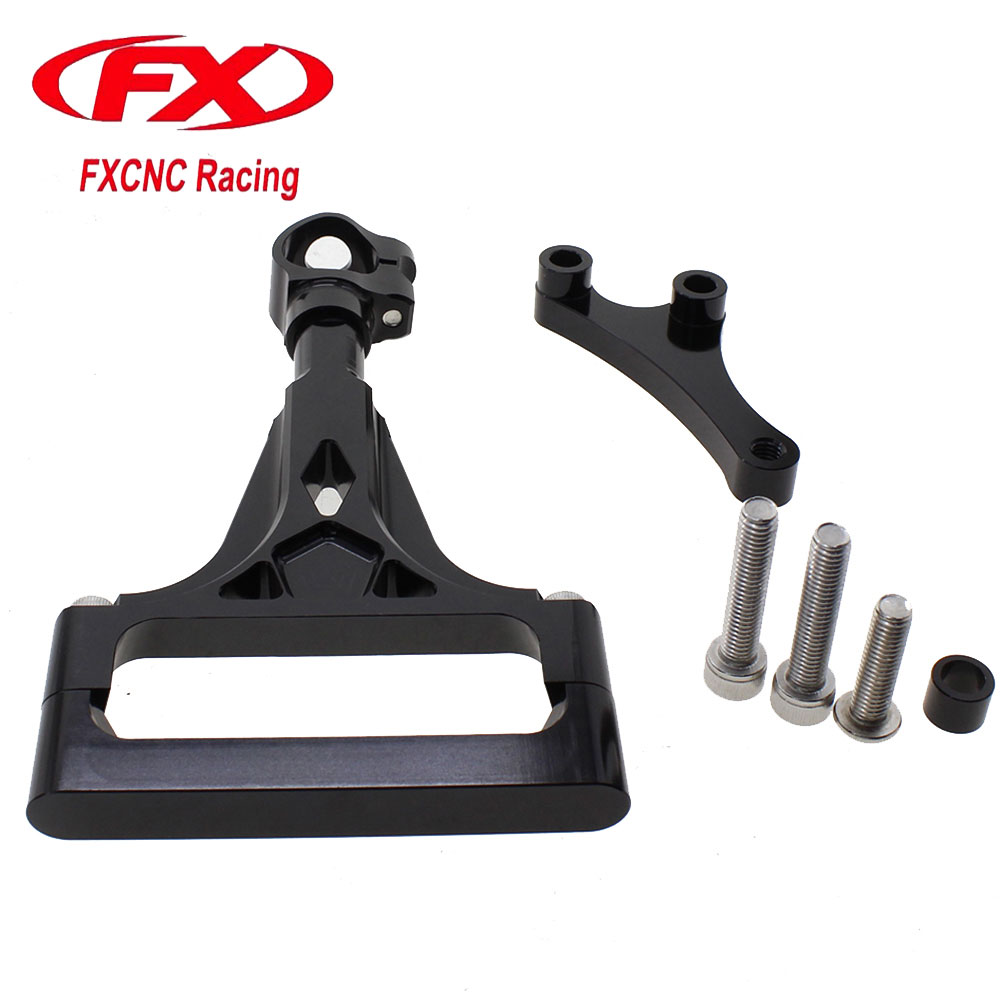 FXCNC Aluminum Steering Damper Stabilizer Bracket Mounting Support Kits Fit For KAWASAKI Z1000 Z750 2003-2009 2004 2005 2006  fxcnc aluminum steering damper stabilizer bracket mounting support kits fit for honda cbr600 f4i 1999 2004