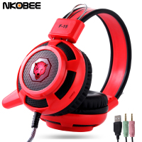 NKOBEE F 15 Gaming Headset Stereo Surrounded Sound Game Headphone With Microphone Gaming Headset For PC