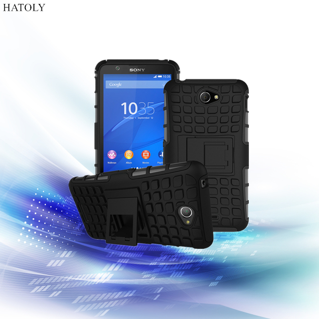 sale retailer 248a4 1f604 US $4.19 |HATOLY For Sony Xperia E4 Case Heavy Duty Armor Shockproof Hard  Rubber Phone Case Cover for Sony Xperia E4 Dual Fundas E2104 5
