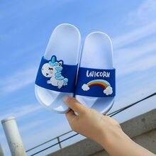 дешево!  Summer Nnw Unicorn ПВХ Тапочки для женщин Обувь Мультфильм Мужские Тапочки Животные Крытый пляжная  Лучший!