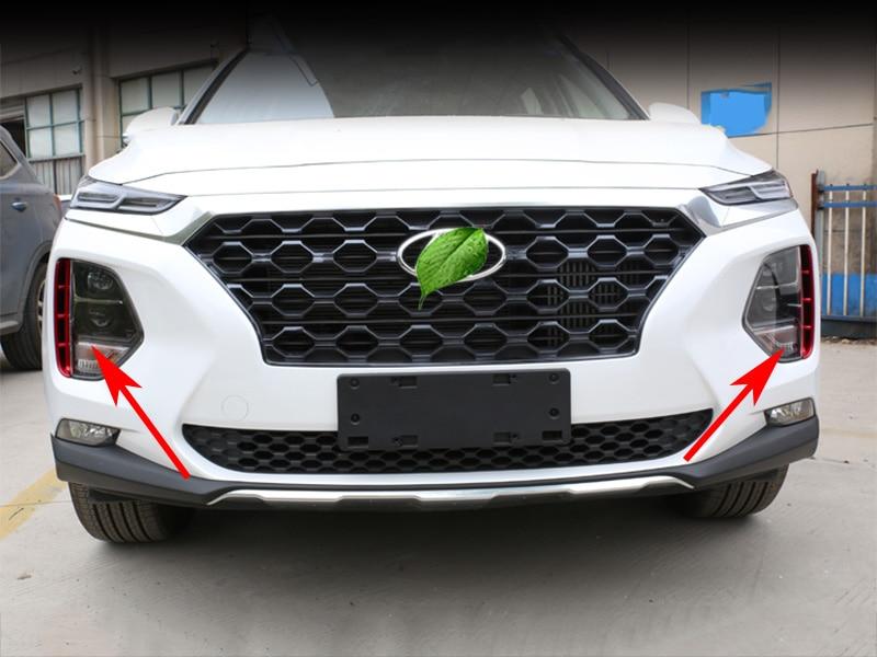 Image 5 - Автомобильные фары воздухозаборник отделка хром стиль внешние аксессуары для hyundai Santa Fe Santafe IX45 4TH 2019 2020-in Хромирование from Автомобили и мотоциклы