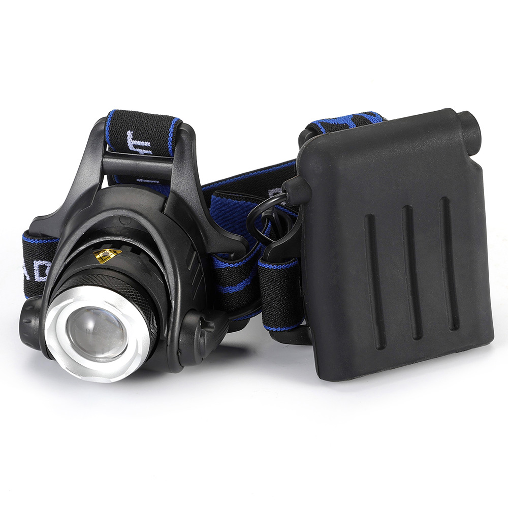 lowest price Outdoor Lighting 4 AA Dry Battery High Power Head Lights Camping LED Headlamp 3 Modes Zoomable Head Lamp