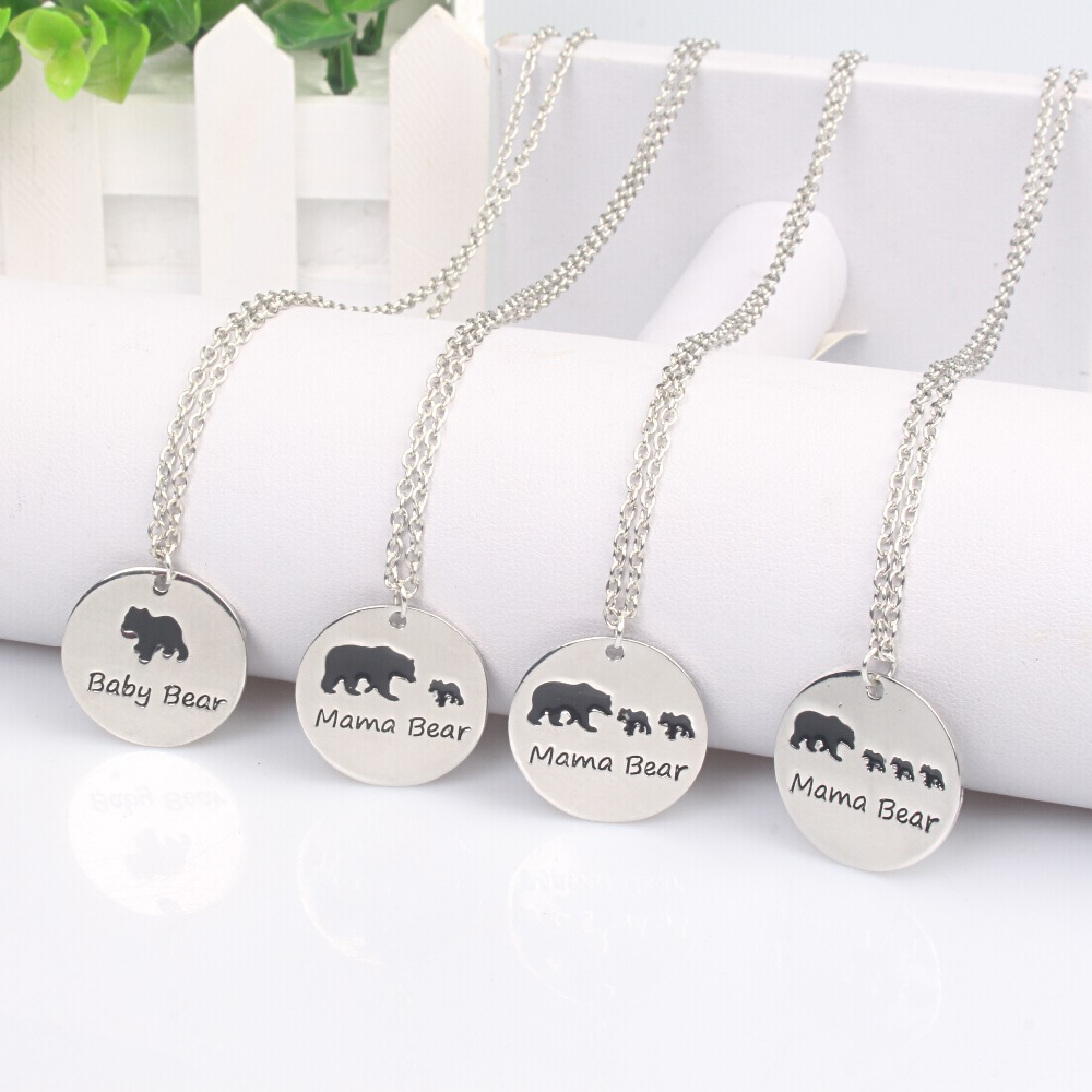 bear mama bar pipercleo products silver plated necklace n com gold