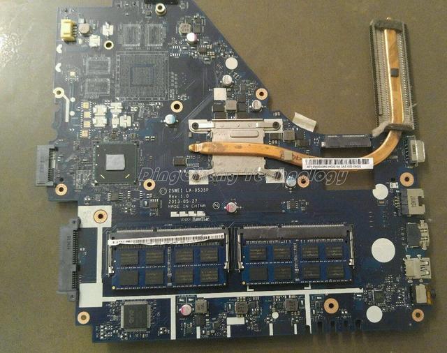 Motherboard laptop original para acer e1-570 z5we1 la-9535p nb. 2117u sr0vq meq11.001 para intel cpu com placa gráfica integrada