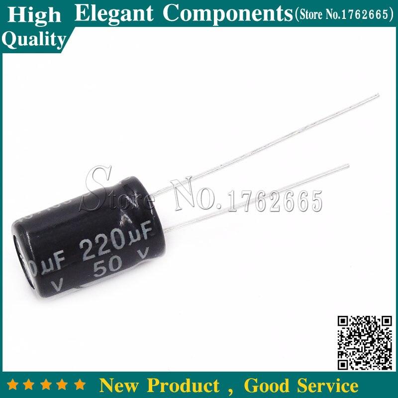 50pcs 50 V 220 Uf Electrolytic Capacitor 50v 220uf 220uf