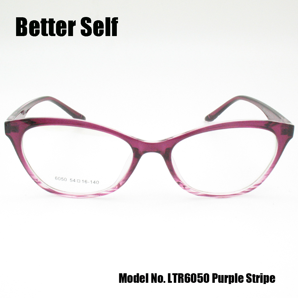 Besser Selbst LTR6050 TR90 Vollrand Optische Brillen Streifen Katze ...