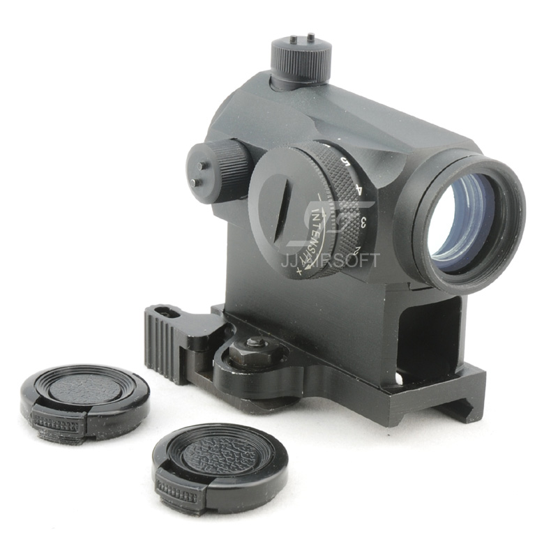 JJ Airsoft Micro 1x24 Red Dot with QD Riser Mount (Black) jj airsoft vsr10 vsr 10 metal