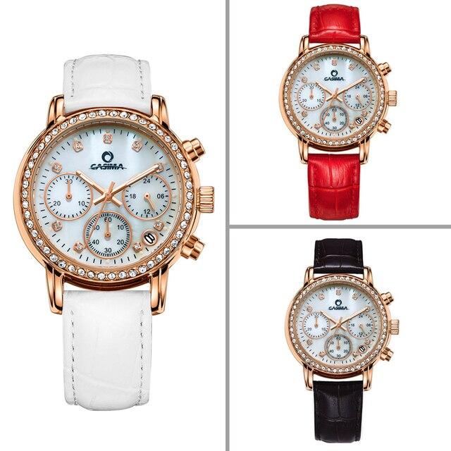 Marca de moda de Lujo relojes de las mujeres de Elegent ocio oro ... 9f872c7390cd