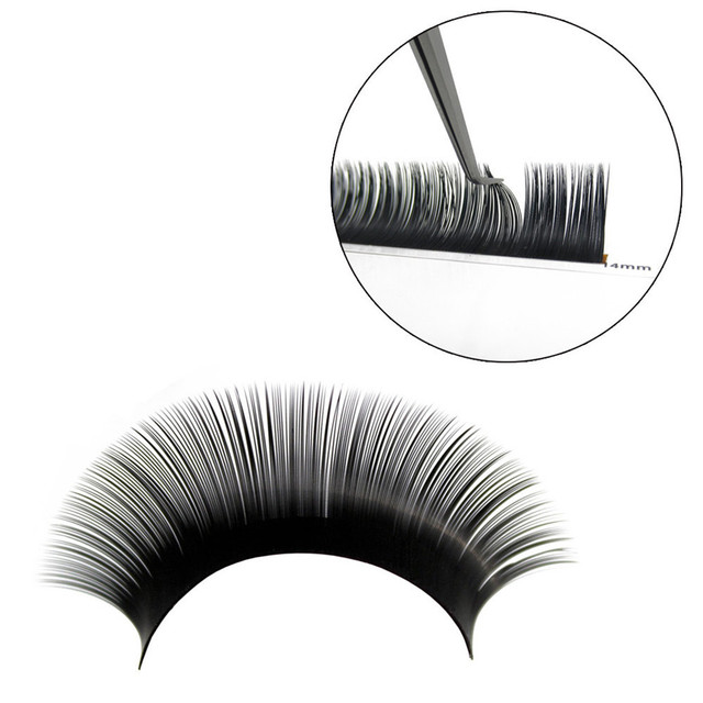 NEWCOME 17 Lines BCD Individual False Eyelash Extensions 0.03-0.25mm Silk Mink Eye Lashes Maquiagem Cilios Russia Volume Eyelash 2