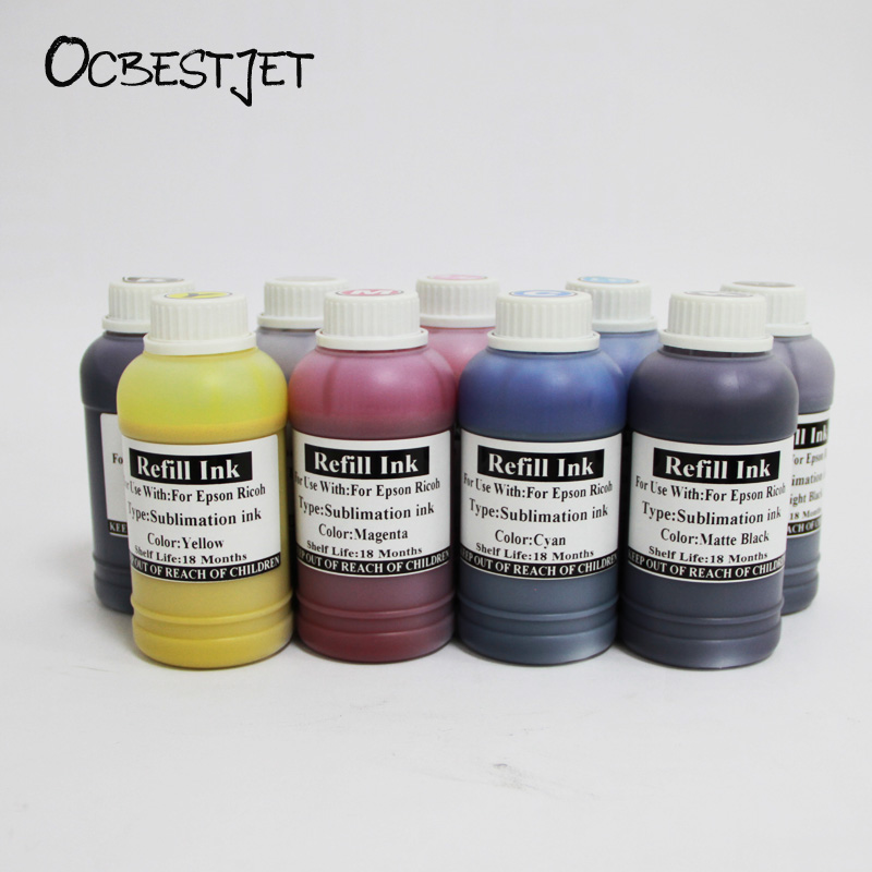 OCBESTJET 250ML Sublimation Ink For Epson 11880 7908 9908 7890 9890 3800 3850 3890 4880 7880 9880 Heat Transfer Ink In 9 Color