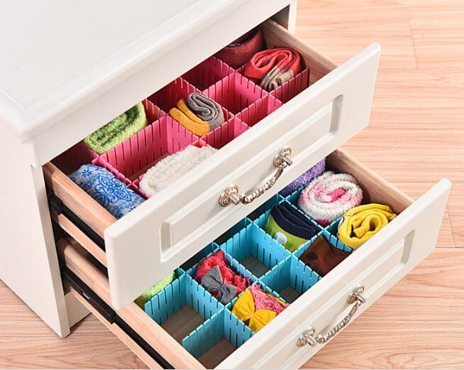 4pcs/lot DIY Adjustable Storage Box Partition Combination Lattice Home Storage Rings Jewelry Box Display Organizer NH 005