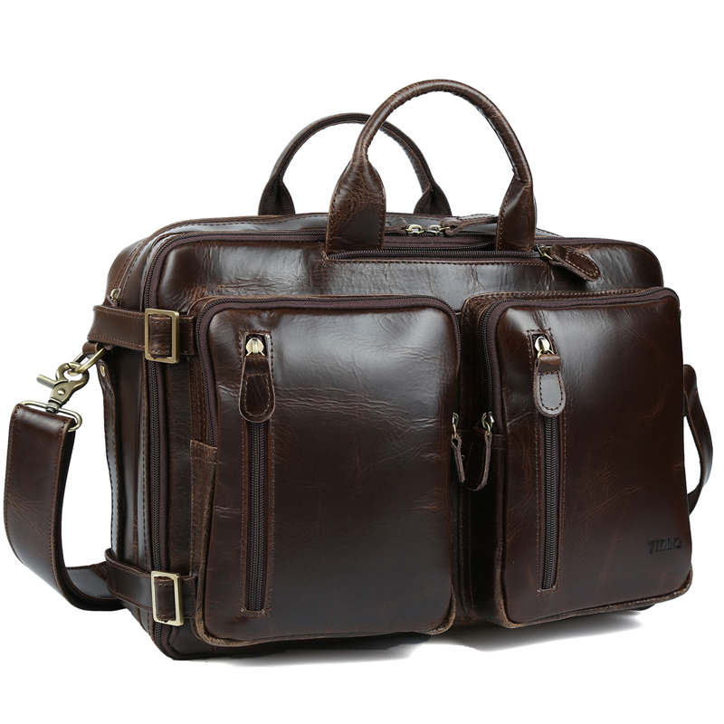 6af1fbad1d82 US $128.0 |TIDING Genuine Leather Travel Briefcase Business Shoulder Bag  Casual Pack for Men 3133-in Briefcases from Luggage & Bags on  Aliexpress.com ...