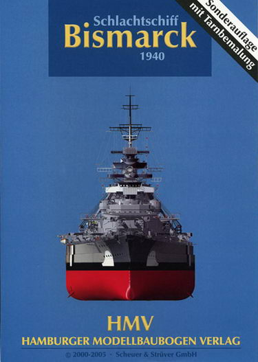 Paper Model Bismarck Battleship PM250HMV5(1:250 A4)
