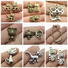 Mix Jewelry Accessories Cat Charms For Making Diy Craft Supplies Womens Handmade Crafts