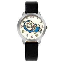 Ot03 Фирменная Новинка Мода Повседневное часы дети милые мультфильм Doraemon Pattern сладкий Стиль кварцевые наручные часы популярная детская часы