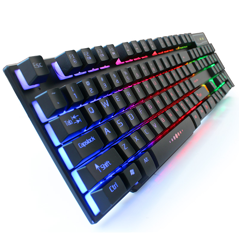Image 2 - Mechanical Keyboard Mouse Combos USB Wired Backlit Gaming Keyboard Mice Set 104 Keys PC Rainbow Illuminated Keyboard Mouse Kit-in Keyboard Mouse Combos from Computer & Office