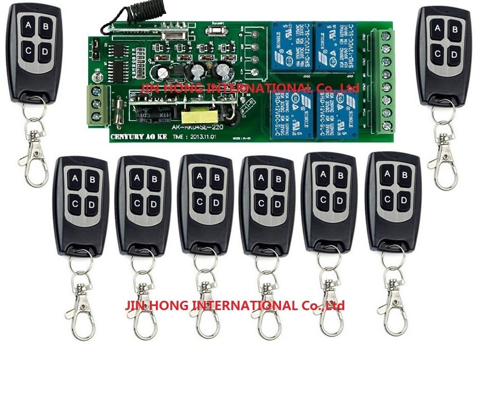 85 В ~ 260 В 110 В ~ 220 В 4ch rf Беспроводной Дистанционное управление реле безопасност ...