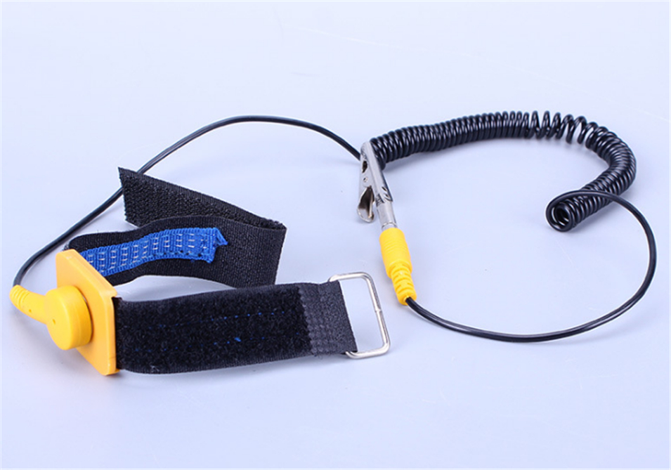 Hot Sale Tool Anti-static Wristband Adjustable Wrist Strap Band Esd Discharge Pc For Electronics Repair Work Tools Ground Wire Relieving Heat And Thirst. Power Tool Accessories