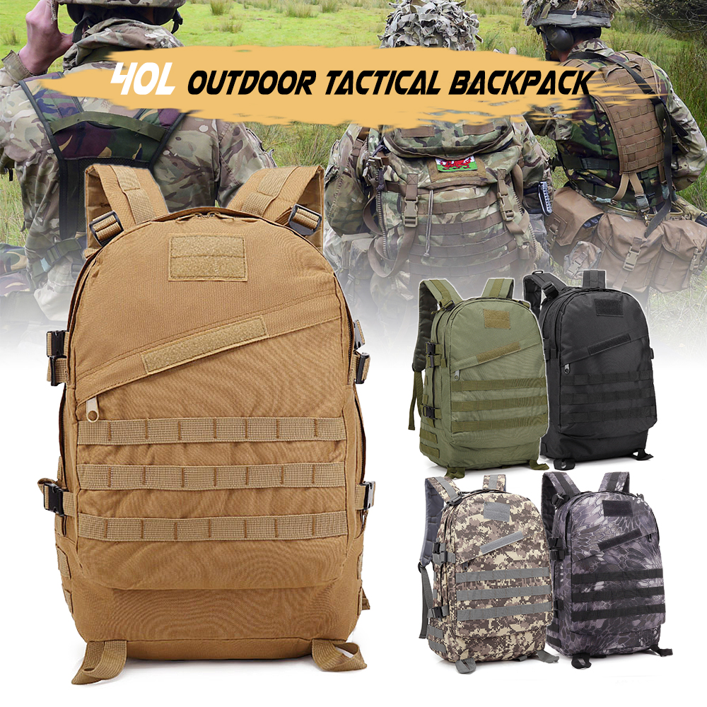 40L Tactical Waterproof Army Rucksack Outdoor Sports Camping Hiking Fishing Hunting Bag Backpack Military Backpack 600D Oxford