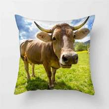 Fuwatacchi Animal 3D Print Cushion Cover Spanish Bullfighting Pillows Sofa Living Room Accessories Home Decor Pillow Cases