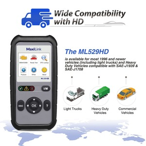Image 5 - Autel Maxilink ML529HD Scan Tool Verbeterde Modus 6 OBD2 Auto Code Reader Heavy Duty Diagnostic Tool Gebruik SAE J1939 SAE J1708
