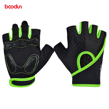 BOODUN Men Women Fitness Gloves GYM Breathable Anti-skid Workout Gloves Weightlifting Palm Protector Crossfit Sport Yoga Gloves the new black hawk skid protector gloves fitness means