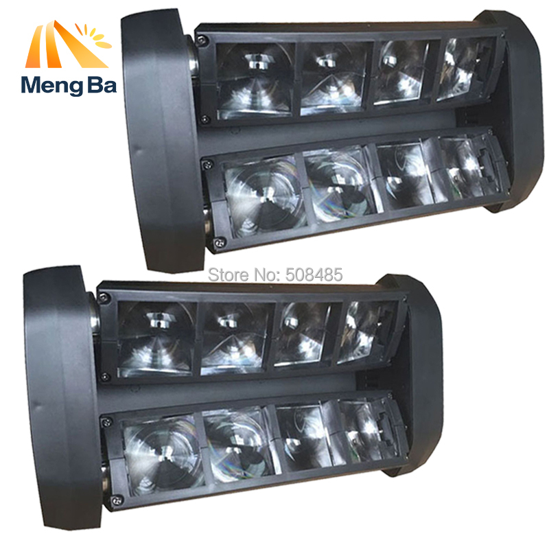 2Pcs /Lot 8x6w LED CREE Beam Light 8 Eyes Mini Spider Light DMX512 Moving Head Light DJ/Fest/Home / Bar /Stage /Party 2pcs lot rgbw double head 8x10w led beam light mini led spider light dmx512 control for stage disco dj equipments free shipping